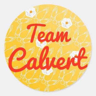 Team Calvert Classic Round Sticker
