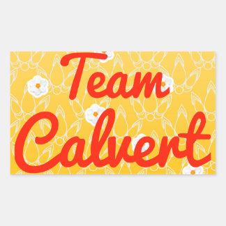 Team Calvert Rectangular Sticker