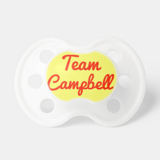 Team Campbell Baby Pacifier