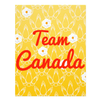 Team Canada Flyer Design