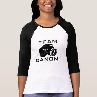 TEAM CANON Ladies 3/4 Sleeve Raglan (Fitted) T-Shirt