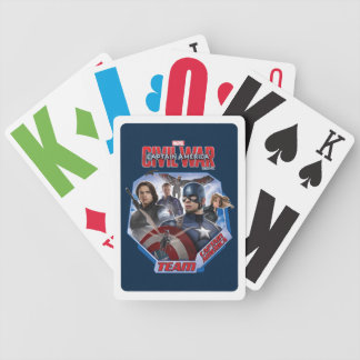 Team Captain America Characters Bicycle Playing Cards