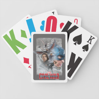 Team Captain America Collage Bicycle Playing Cards