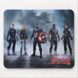 Team Captain America Lineup Mouse Pad