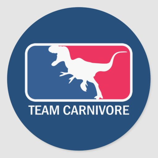 Team Carnivore Meat Lover Steak Eater Classic Round Sticker