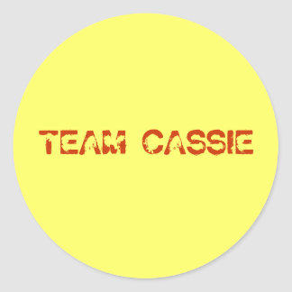 team cassie classic round sticker
