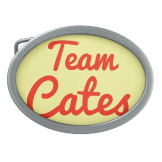 Team Cates Oval Belt Buckle