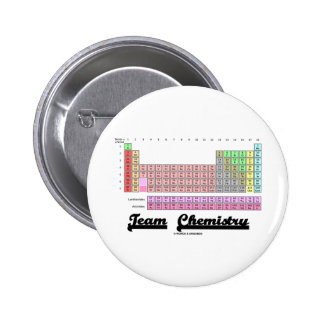 Team Chemistry (Periodic Table Of Elements) 2 Inch Round Button