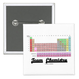 Team Chemistry (Periodic Table Of Elements) 2 Inch Square Button