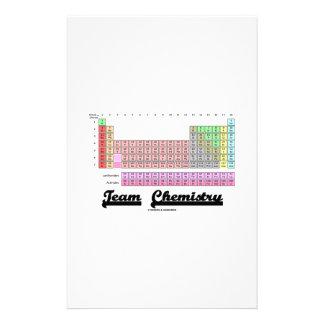 Team Chemistry (Periodic Table Of Elements) Stationery