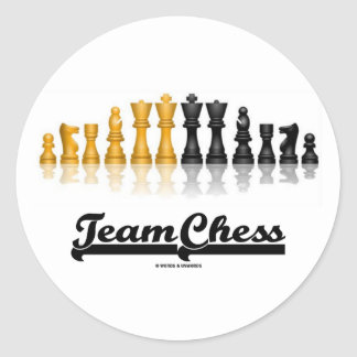 Team Chess (Reflective Chess Set) Round Stickers