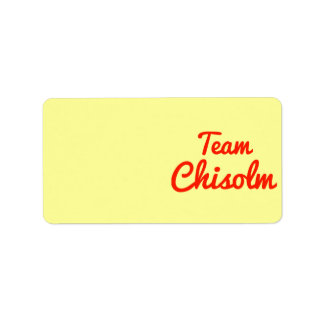 Team Chisolm Label