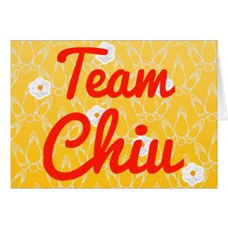 Team Chiu Greeting Card