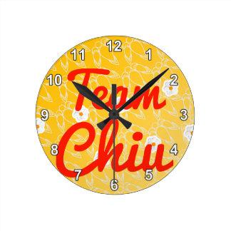 Team Chiu Round Wallclock