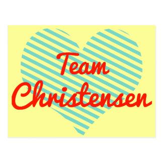 Team Christensen Postcard