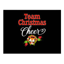 Team Christmas Cheer Family Gift Cute Christmas Postcard