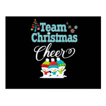 Team Christmas Cheer Family Gift Cute Snow Kids Postcard