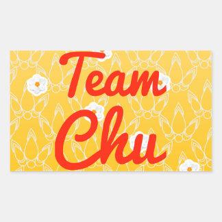 Team Chu Rectangular Sticker