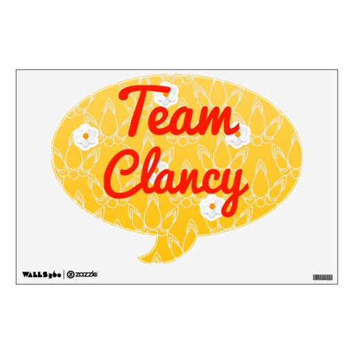 Team Clancy Room Graphic