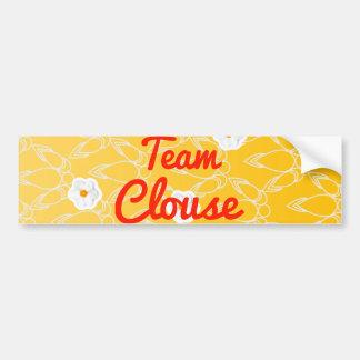 Team Clouse Car Bumper Sticker