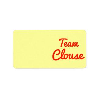 Team Clouse Address Label