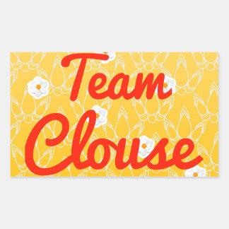 Team Clouse Rectangular Sticker