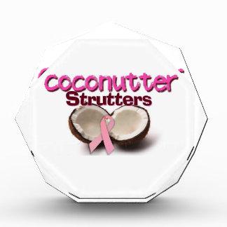 Team Coconutter Strutters Acrylic Award