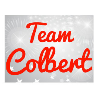 Team Colbert Post Card