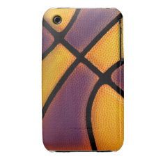team color purple and gold basketball iphone case at Zazzle