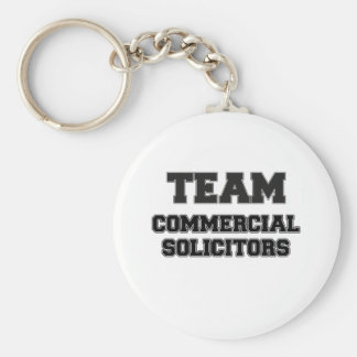Team Commercial Solicitors Basic Round Button Keychain