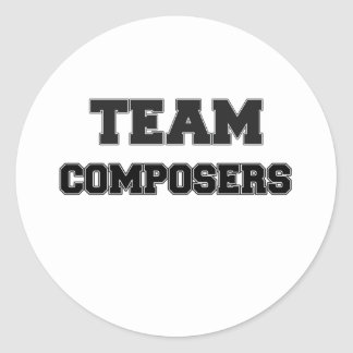 Team Composers Round Stickers