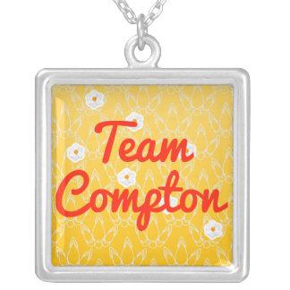 Team Compton Square Pendant Necklace