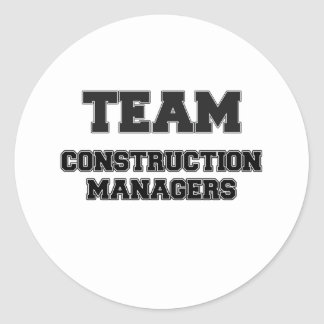 Team Construction Managers Classic Round Sticker