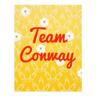 Team Conway Custom Flyer