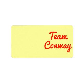 Team Conway Custom Address Label