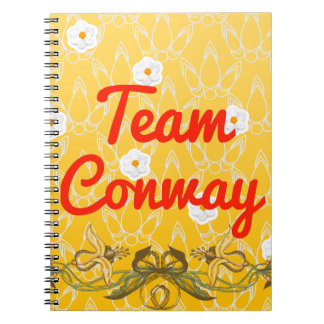 Team Conway Spiral Note Books