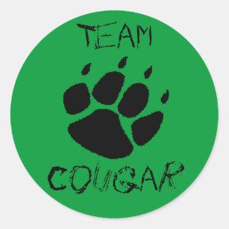 Team Cougar Classic Round Sticker