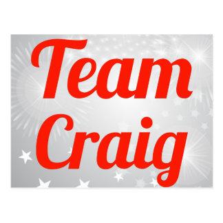 Team Craig Postcard