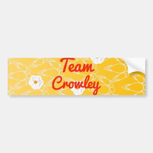 Team Crowley Car Bumper Sticker