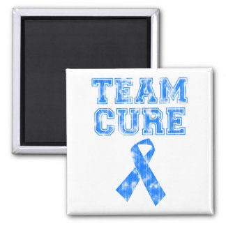 Team Cure (Blue) 2 Inch Square Magnet