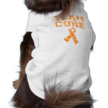 Team Cure (Orange) Doggie T Shirt
