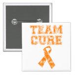 Team Cure (Orange) Pinback Buttons