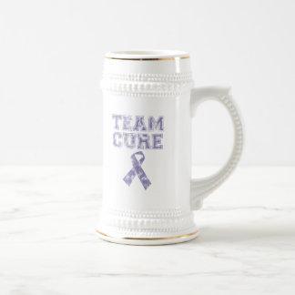 Team Cure (Periwinkle) Beer Stein