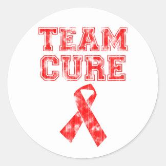 Team Cure (Red) Round Sticker