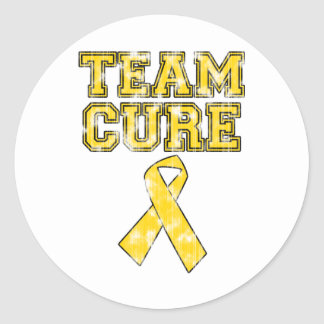 Team Cure (Yellow) Classic Round Sticker