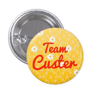 Team Custer Pinback Buttons