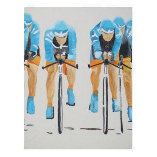 team cycle race postcard
