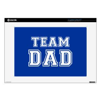 """Team Dad in blue Skins For 15"""" Laptops"""