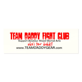 TEAM DADDY Card Double-Sided Mini Business Cards (Pack Of 20)