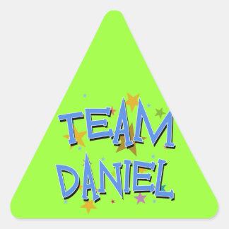Team Daniel Customizable Triangle Stickers